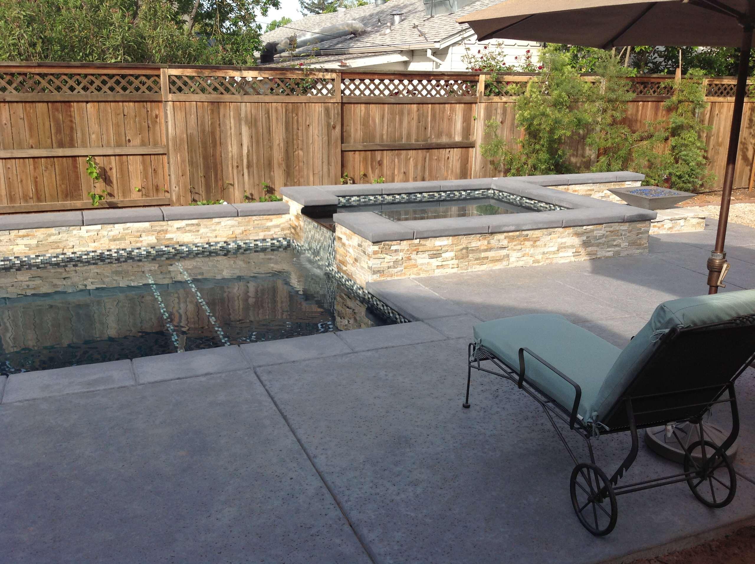 Contemporary pool/spa, Sacramento