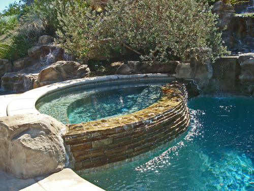 Inground Spas With Stack Stone : Can you tell me what kind of stacked stone is used on the