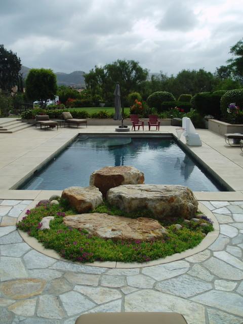 Contemporary rancho santa fe landscape xeriscape for Modern pool landscaping