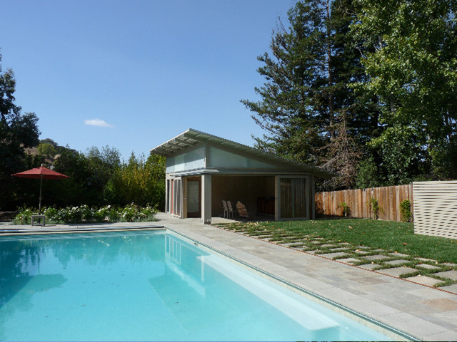 Contemporary Shed - Pool House Design - Modern - Swimming Pool & Hot ...