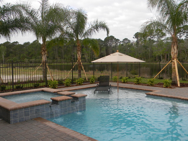 Coquiana 1128 Model in Grand Haven traditional-pool