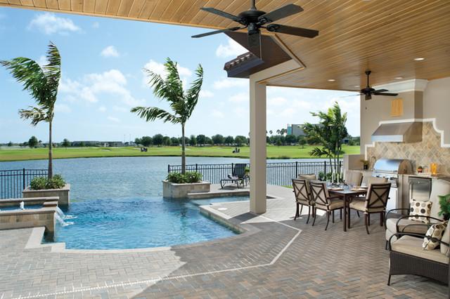 Coquina 1177 tropical pool tampa by arthur for Pool design tampa florida