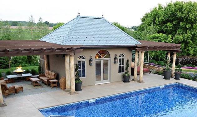 Corcoran pool house mediterranean pool minneapolis for Outdoor kitchen cost estimator