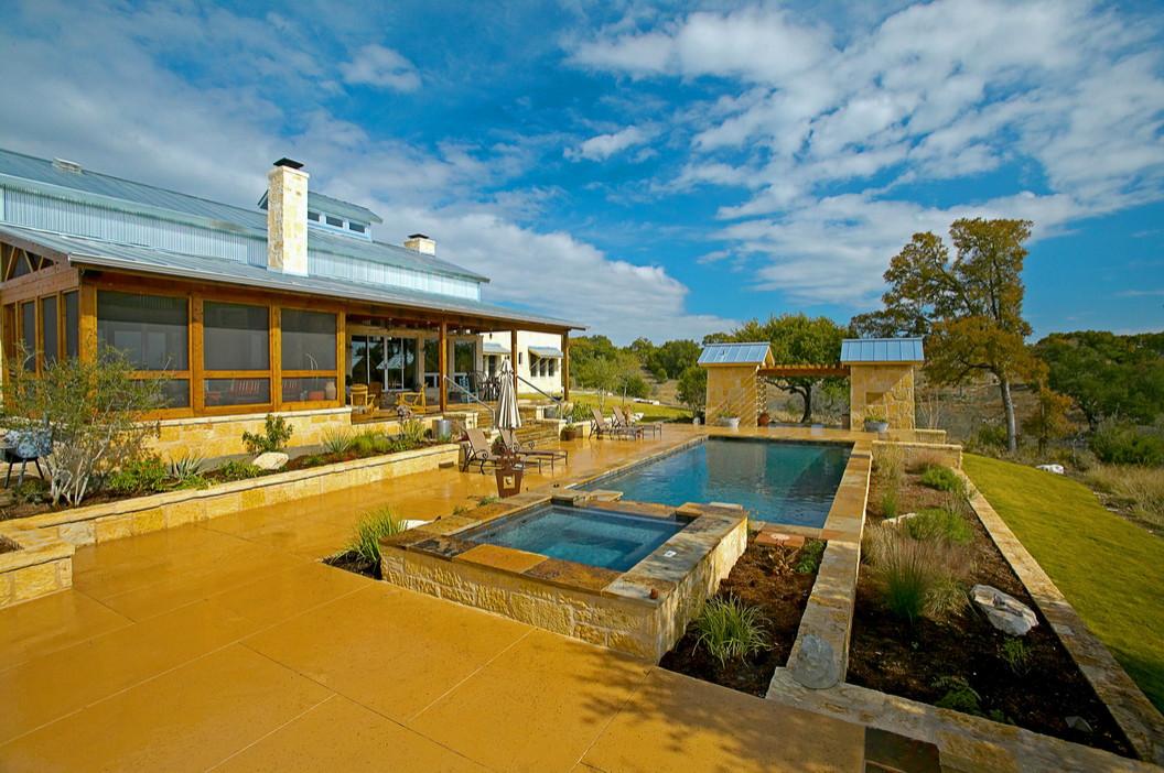 Cordillera Ranch/Boerne Rustic Modern Pool/Spa/Outdoor Living