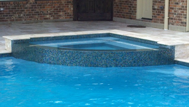 corner hot tub spa. Corner Spa With Rounded Reverse Negative Edge Spillway Swimming Pool And Hot  Swimming