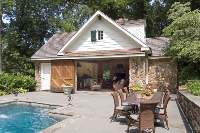 Country Poolhouse Wayne Pennsylvania Traditional Pool