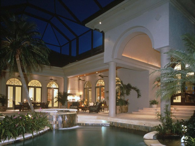 Courtyard Home Mediterranean Pool Orlando By The