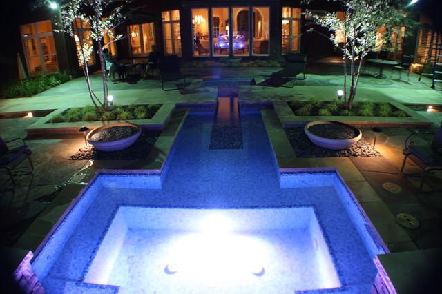 Courtyard Spool At Night