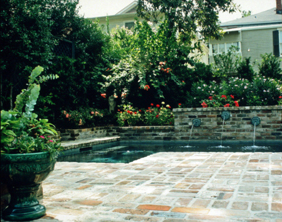 Courtyards traditional pool for Pool design new orleans