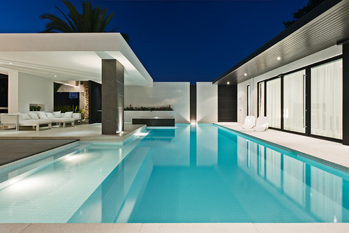 contemporary pool art home decor