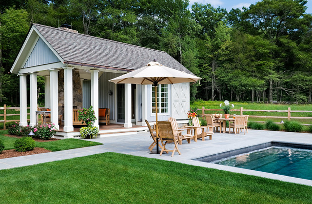 crisp architects traditional pool - Pool House Plans