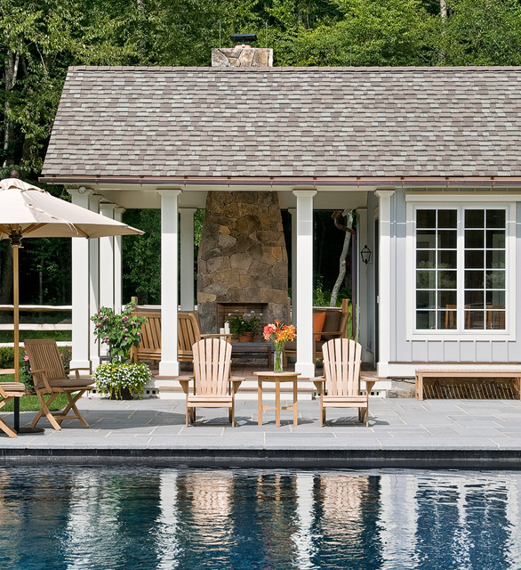 Crisp architects farmhouse pool new york by crisp for Farmhouse with swimming pool