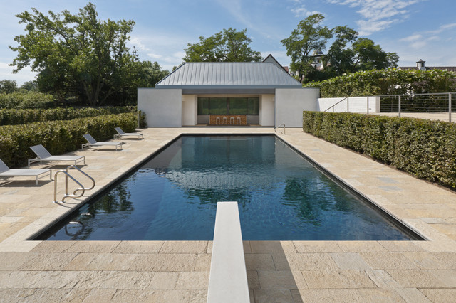 Houzz bathroom travertine - Ctf Modern Pool Chicago By Vinci Hamp Architects