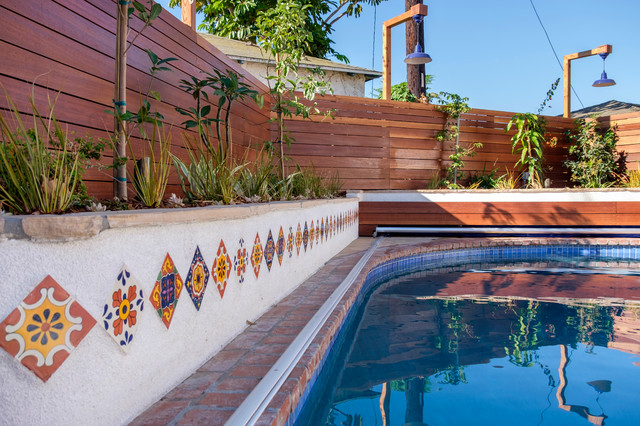 culver city backyard swimming pool traditional pool los