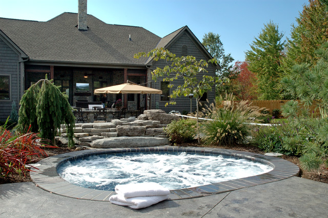 Custom Built Home eclectic-pool