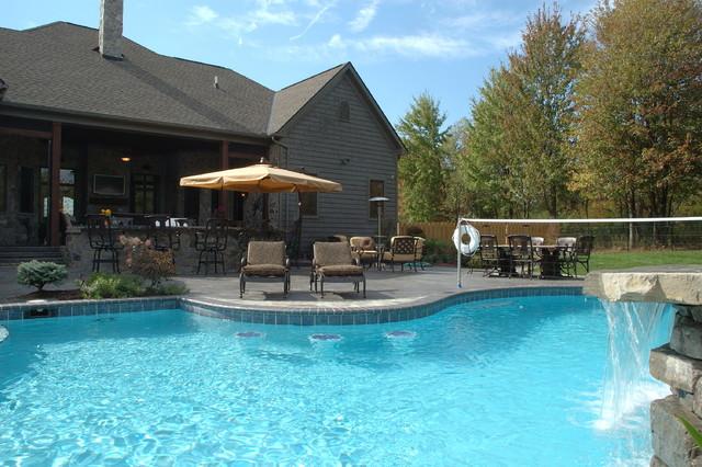 Custom Built Home eclectic-pool