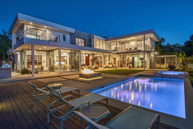 Custom Contemporary Home in Encino, CA - Contemporary - Pool - los angeles - by Structure Home