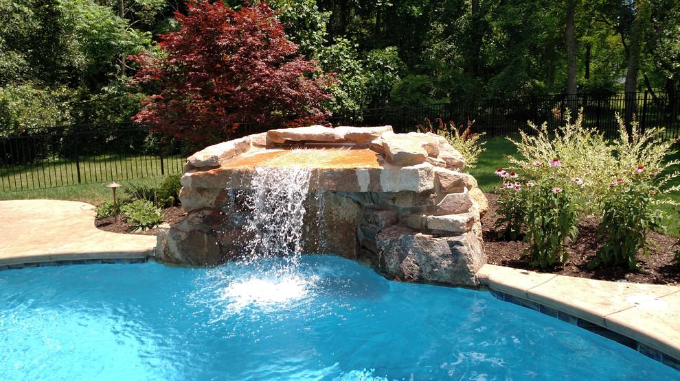 Custom Grotto Waterfall Pool Traditional Pool Philadelphia By Blue Haven Pools Spas By Calvitti
