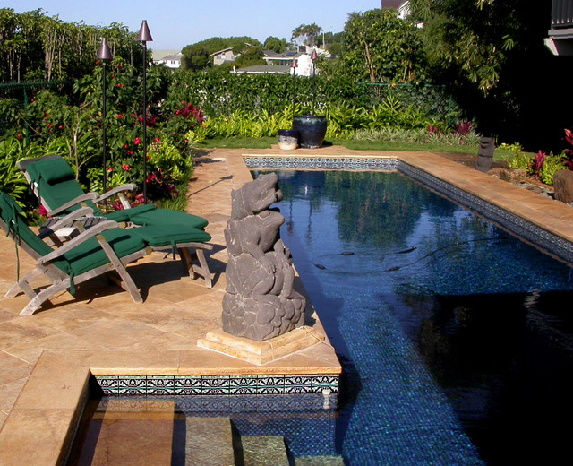 Custom Hand Painted Pool Tiles In Hawaii Mediterranean Pool Hawaii By The Armenian