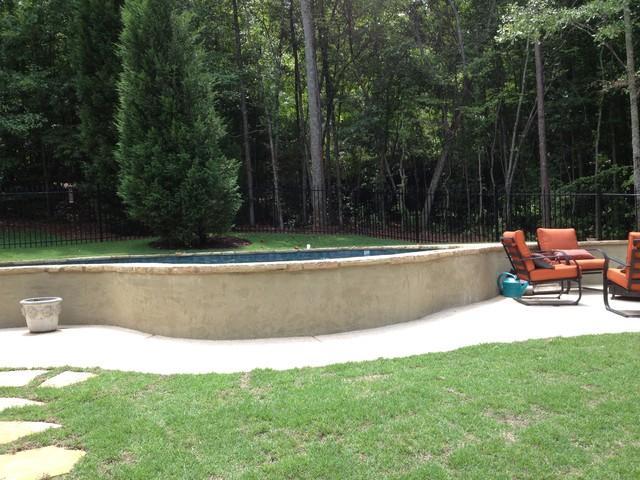 Custom Hilltop Concrete Pool in Newnan, Ga pool