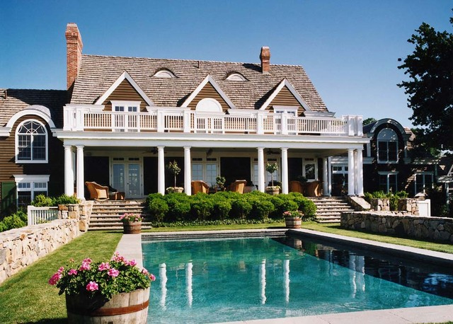 Custom home fishers island new york rustic pool for Home for sale nyc