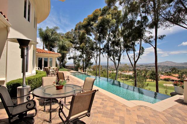 custom home in southern california backyard pool patio traditional