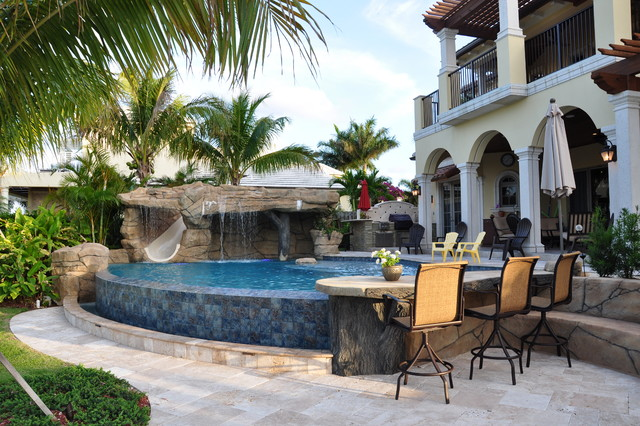 Custom Homes Mediterranean Pool Miami By Vintage