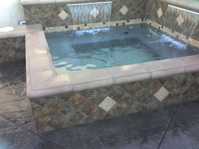 Custom In Ground Concrete Spas Mediterranean Pool
