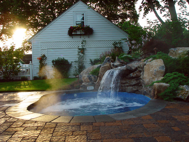 Custom In Ground Vinyl Spa Traditional Swimming Pool And Hot