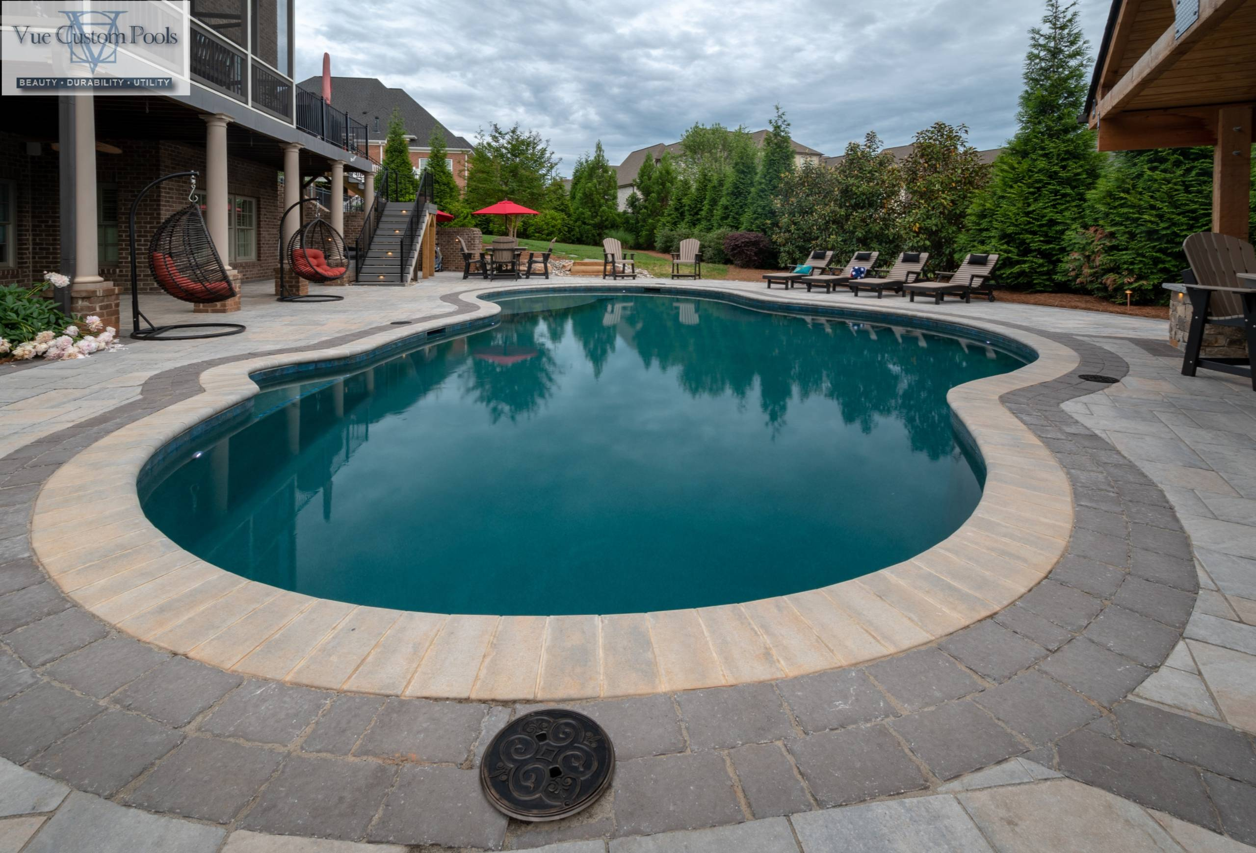 Custom Pool and Outdoor living space in Winston Salem