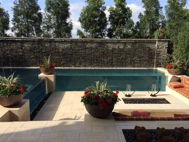 Custom pool at toll brothers baker ranch model homes in for Pool design orange county ca