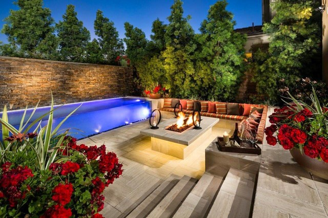 Custom Pool At Toll Brothers Baker Ranch Model Homes In
