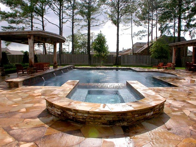 Custom pool design cypress tx traditional pool for Pool design houston tx