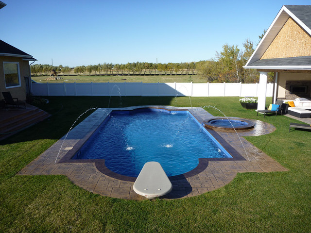 Custom pool design tropical pool other metro by for Pool spa show winnipeg
