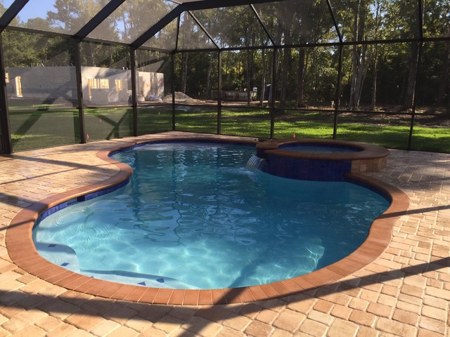 Custom pool spa and enclosure contemporary pool for Pool enclosure design software