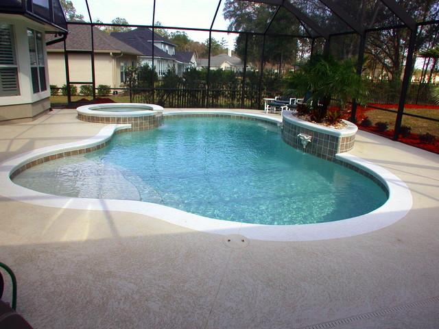Custom pools traditional pool jacksonville by for Pool design jacksonville fl