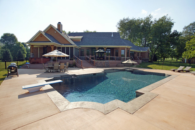 Custom Ranch rustic-pool