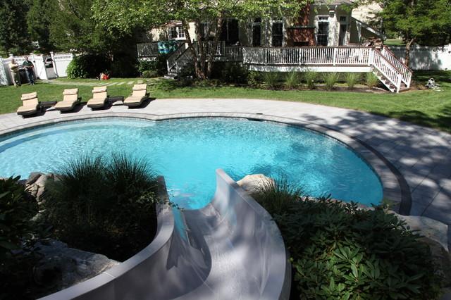 Custom swimming pool water slide for Custom pool water slides