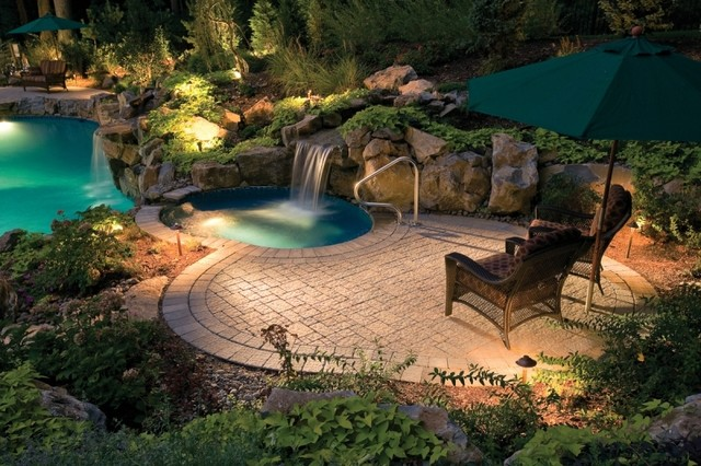 Swimming Pool Landscaping : Custom swimming pool deck tropical philadelphia