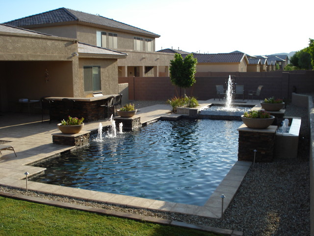 Custom Swimming Pools Traditional Pool Phoenix By