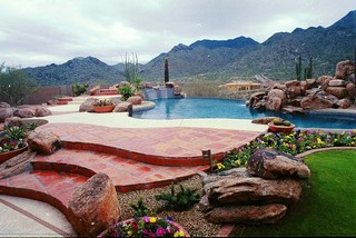 Custom Swimming Pools - Tropical - Pool - phoenix - by Shasta Pools and Spas
