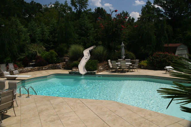 Custom vinyl lazy l contemporary pool atlanta by for Lazy l swimming pool covers