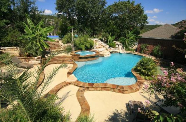 Custom work tropical pool austin by texas pools for Pool design austin