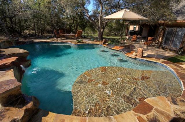 Custom Work Traditional Pool Austin By Texas Pools