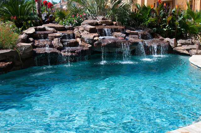 Cypress Custom Pools Tropical Pool Houston by  : tropical pool from www.houzz.com size 640 x 424 jpeg 168kB