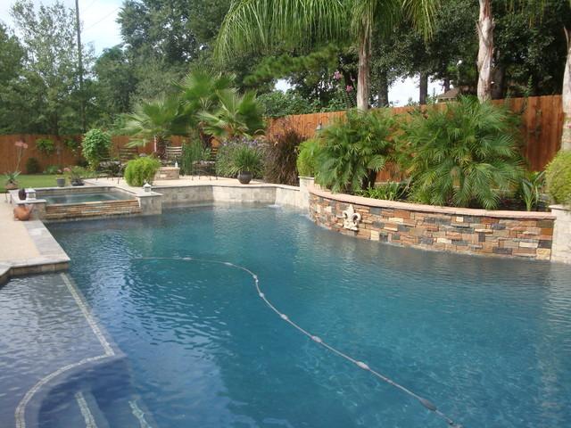 Cypress custom pools grecian style showcase pool for Pool design houston