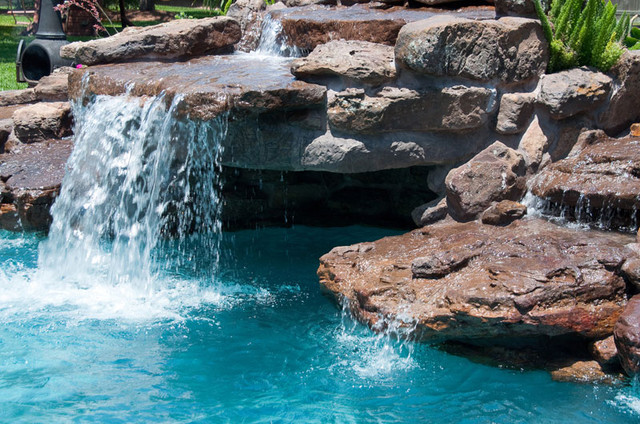 Cypress Custom Pools Grotto Closeup Pool Houston