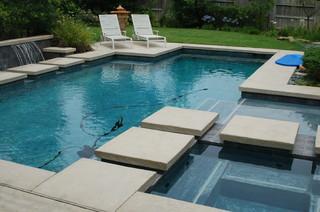 Cypress Custom Pools Modern Style Pool W Stepping
