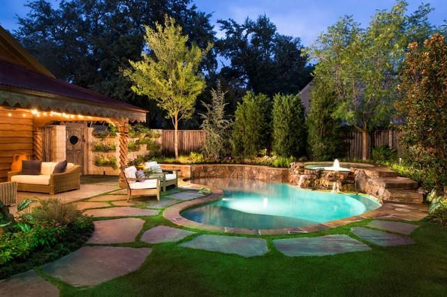 Dallas, Texas – Rustic Estate - Rustic - Pool ... on pool landscaping ideas in texas, backyard gardens in texas, small trees for landscaping in texas,