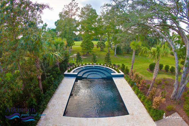 swimming pool contractor charleston sc daniel island modern courtyard
